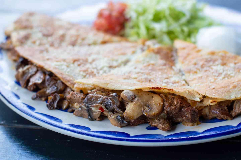 Steak & Mushroom Quesadilla