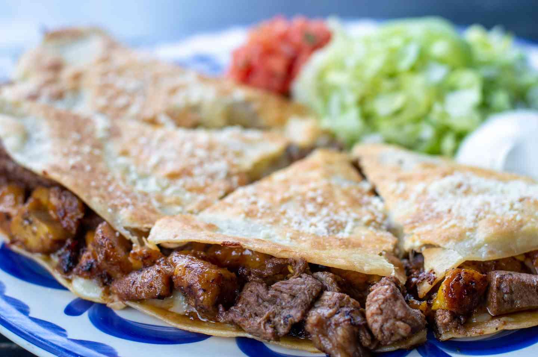 Steak & Sweet Plantains Quesadilla