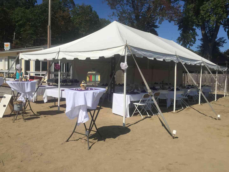 exterior tent event
