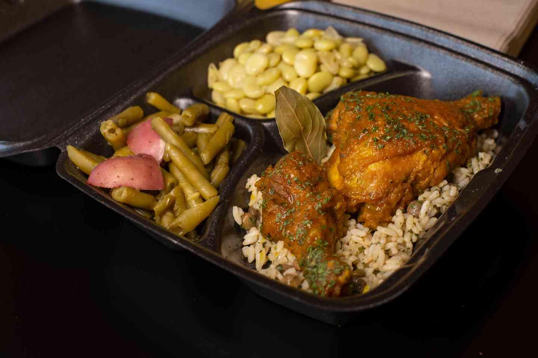 Curry Chicken Green Beans & Lima Beans