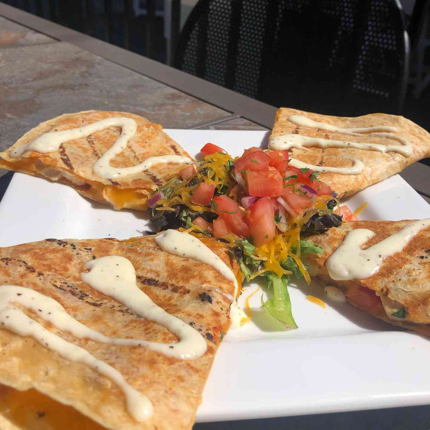 Chargrilled Chicken Quesadillas