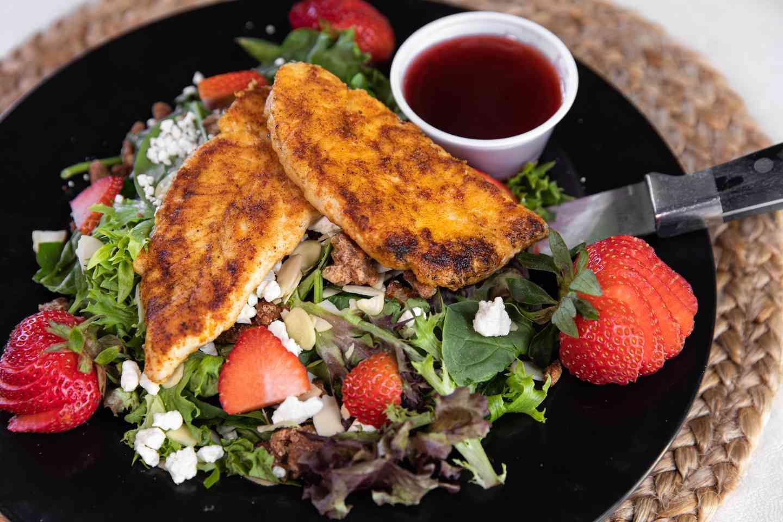Strawberry & Feta, Saute Chicken Salad