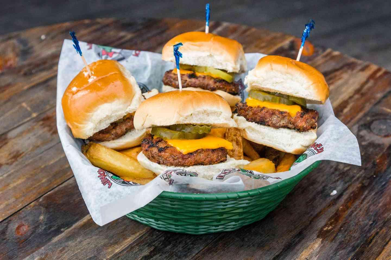 mini burger basket