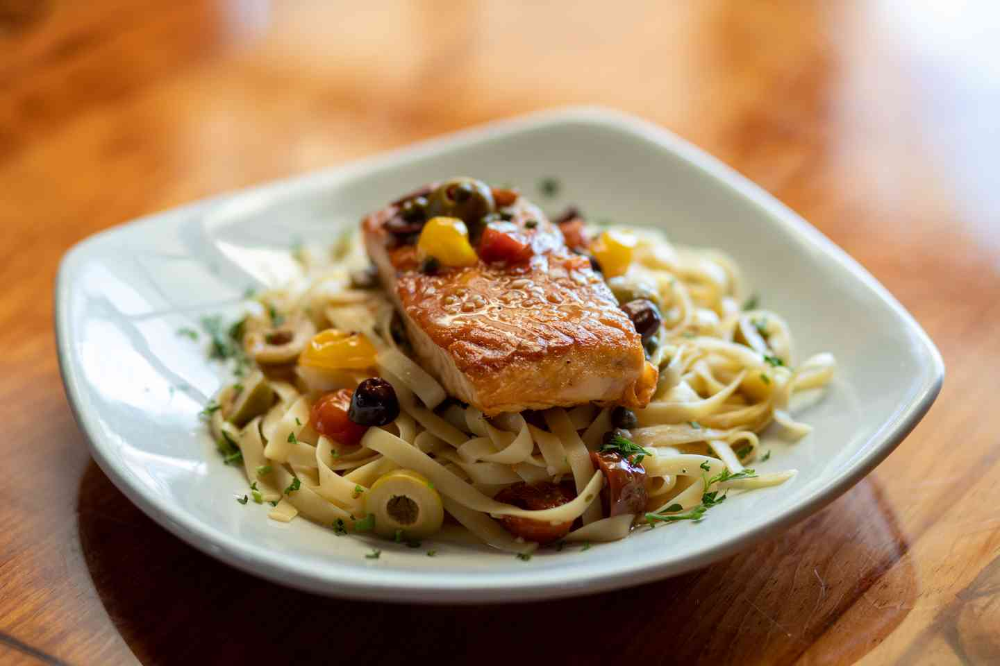 Salmon Capperi with Olives