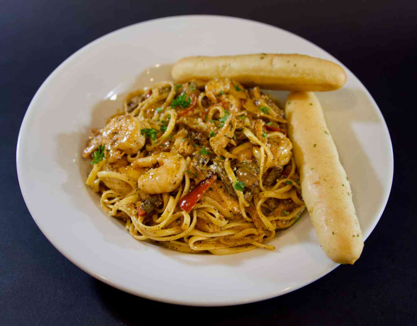 Blackened Chicken & Shrimp Linguine