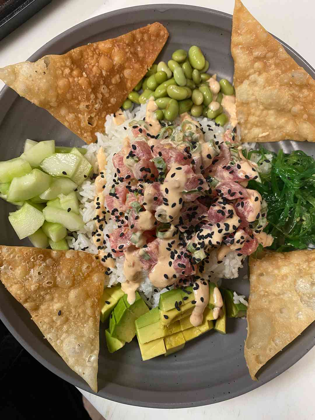 TUNA POKE BOWL (TRADITIONAL OR SPICY PELE'S KISS)