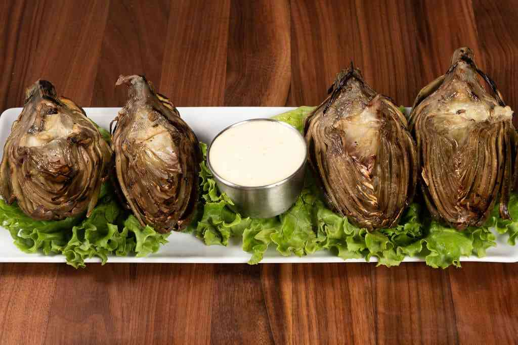 Grilled Artichokes with Hollandaise