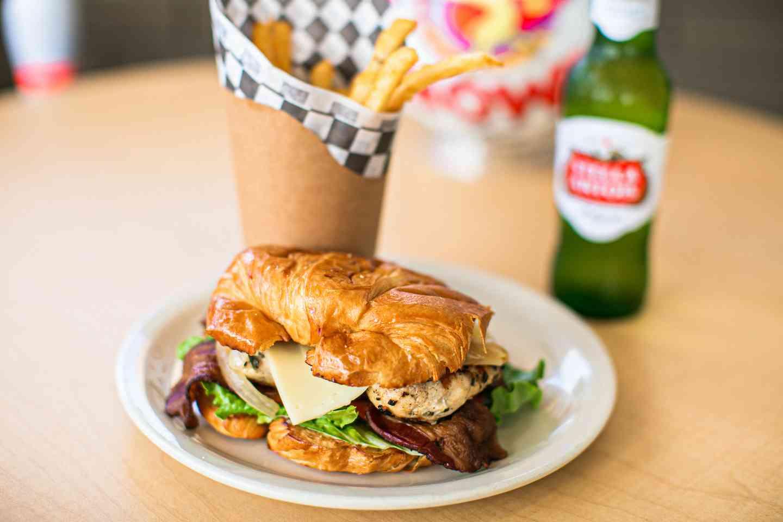 Croissant Sandwich and Stella