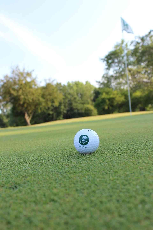 SCC logo on a golf ball