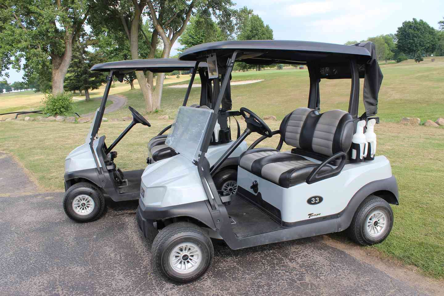 Two golf carts