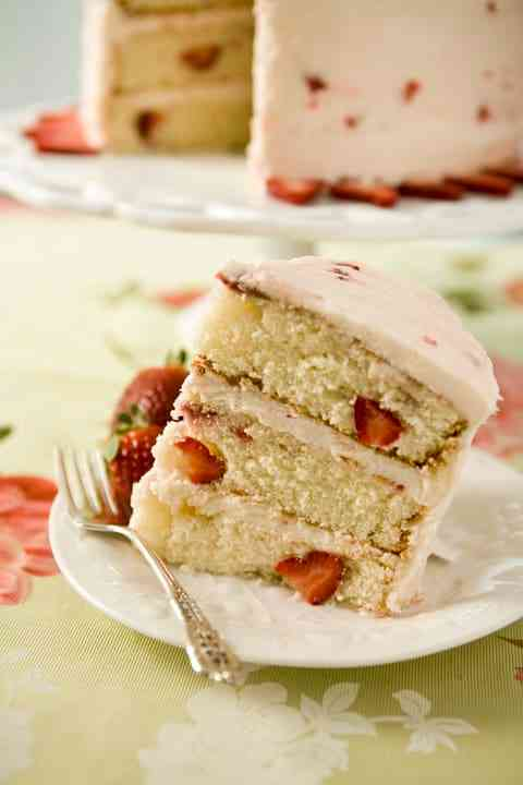 Gluten Friendly Fresh Strawberry Cake