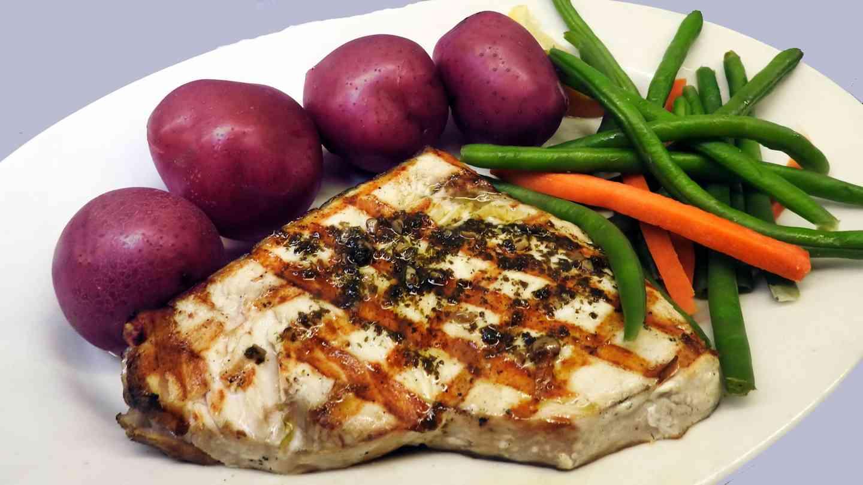 Charbroiled Fresh Swordfish Steak