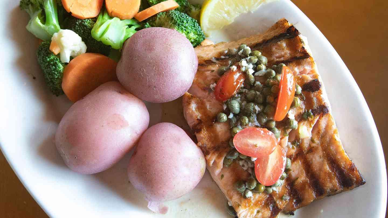 Charbroiled Fresh Salmon Dinner
