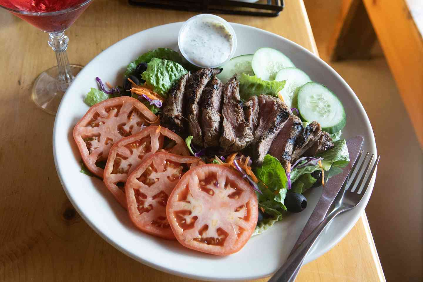 Charbroiled Marinated Tenderloin* Tail Salad