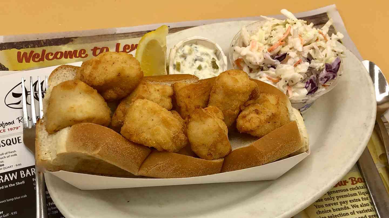 Fresh Fried Sea Scallop Roll