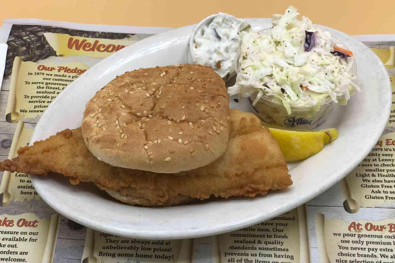 Fresh Fried Haddock Roll