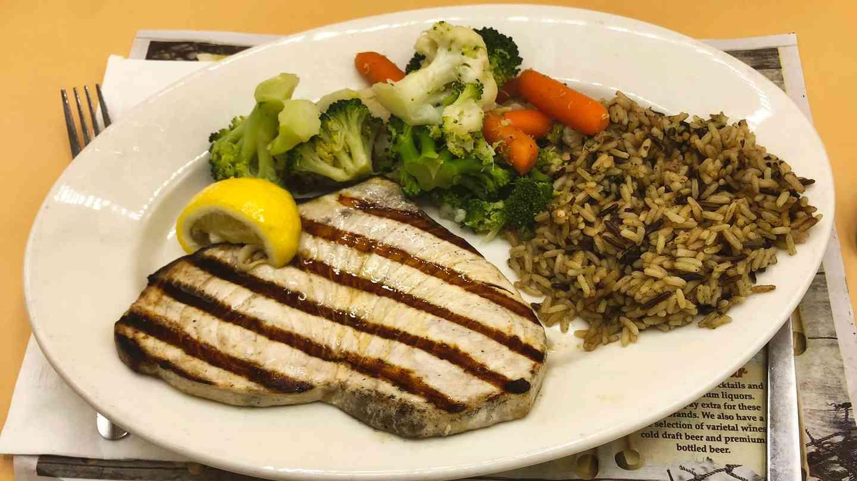 Light & Healthy Charbroiled Fresh Swordfish