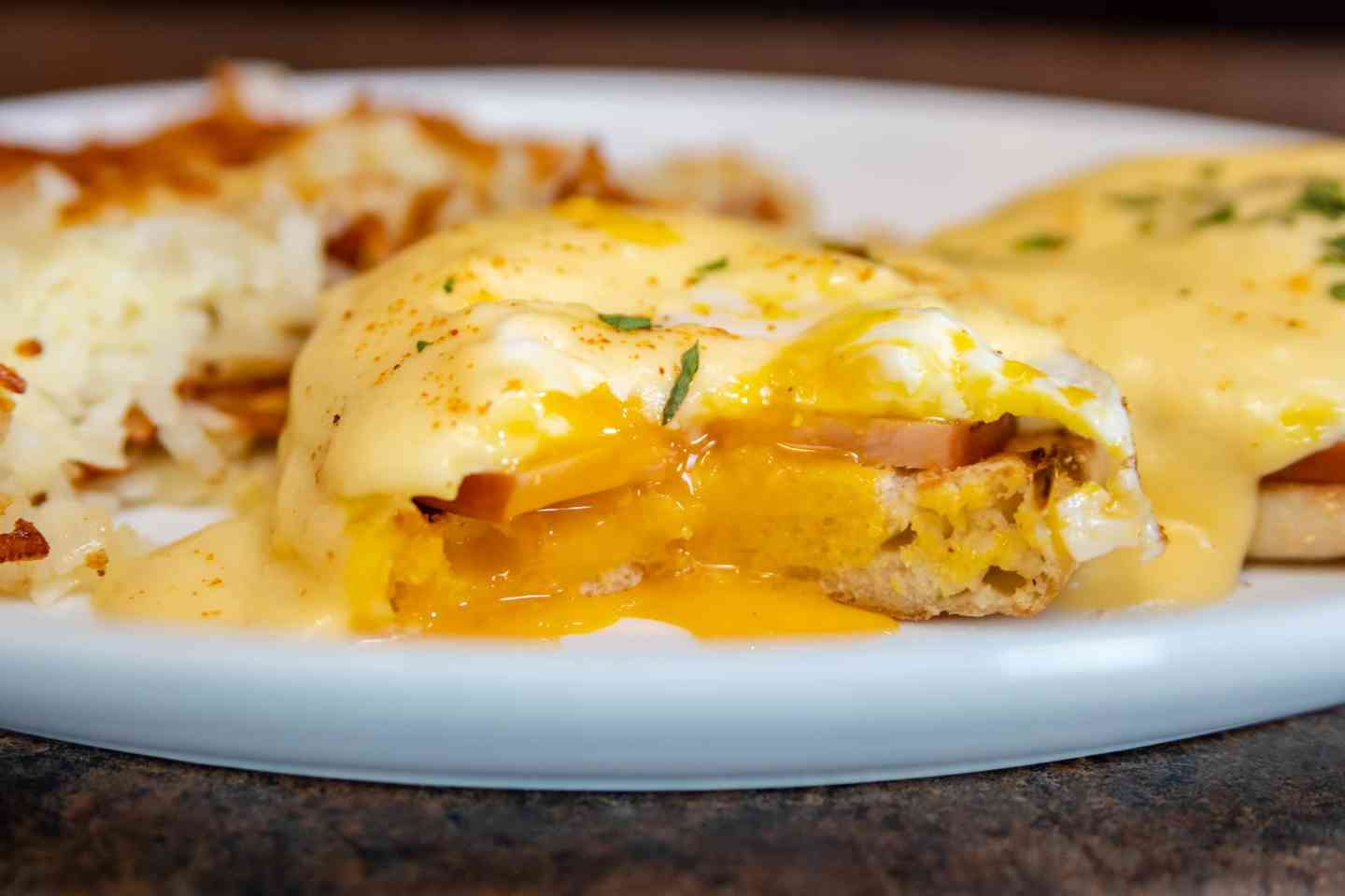 Eggs Benedict -traditional or veggie-