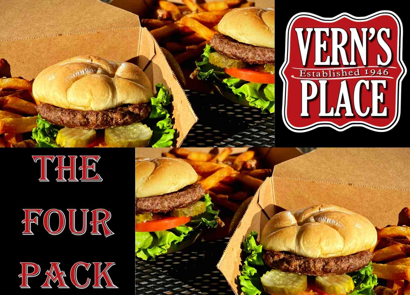 4-PACK Hamburger Deluxe