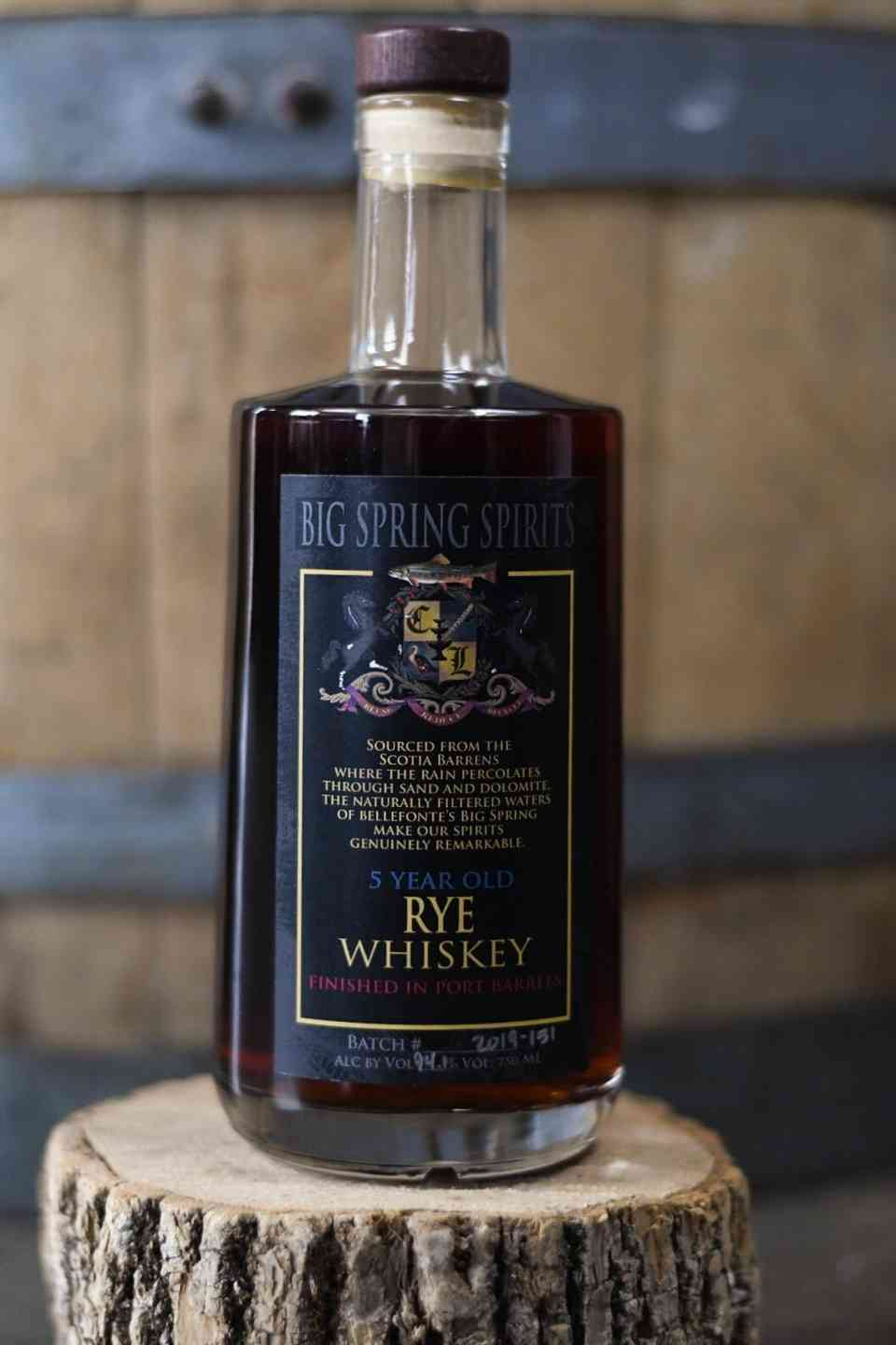 Port-Finished Aged Rye Whiskey