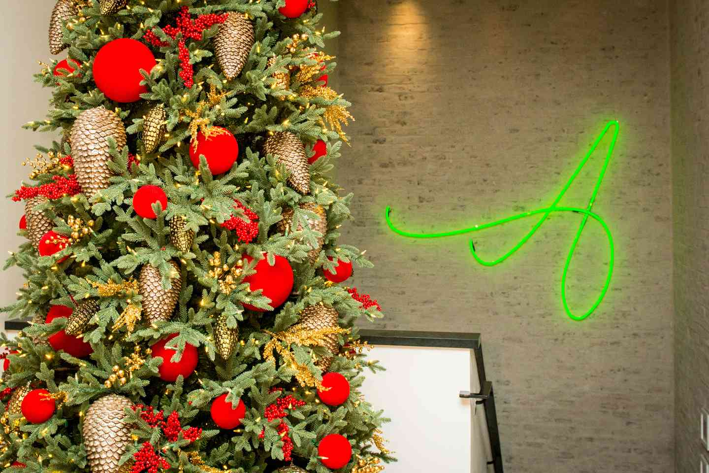 christmas tree with the annie logo