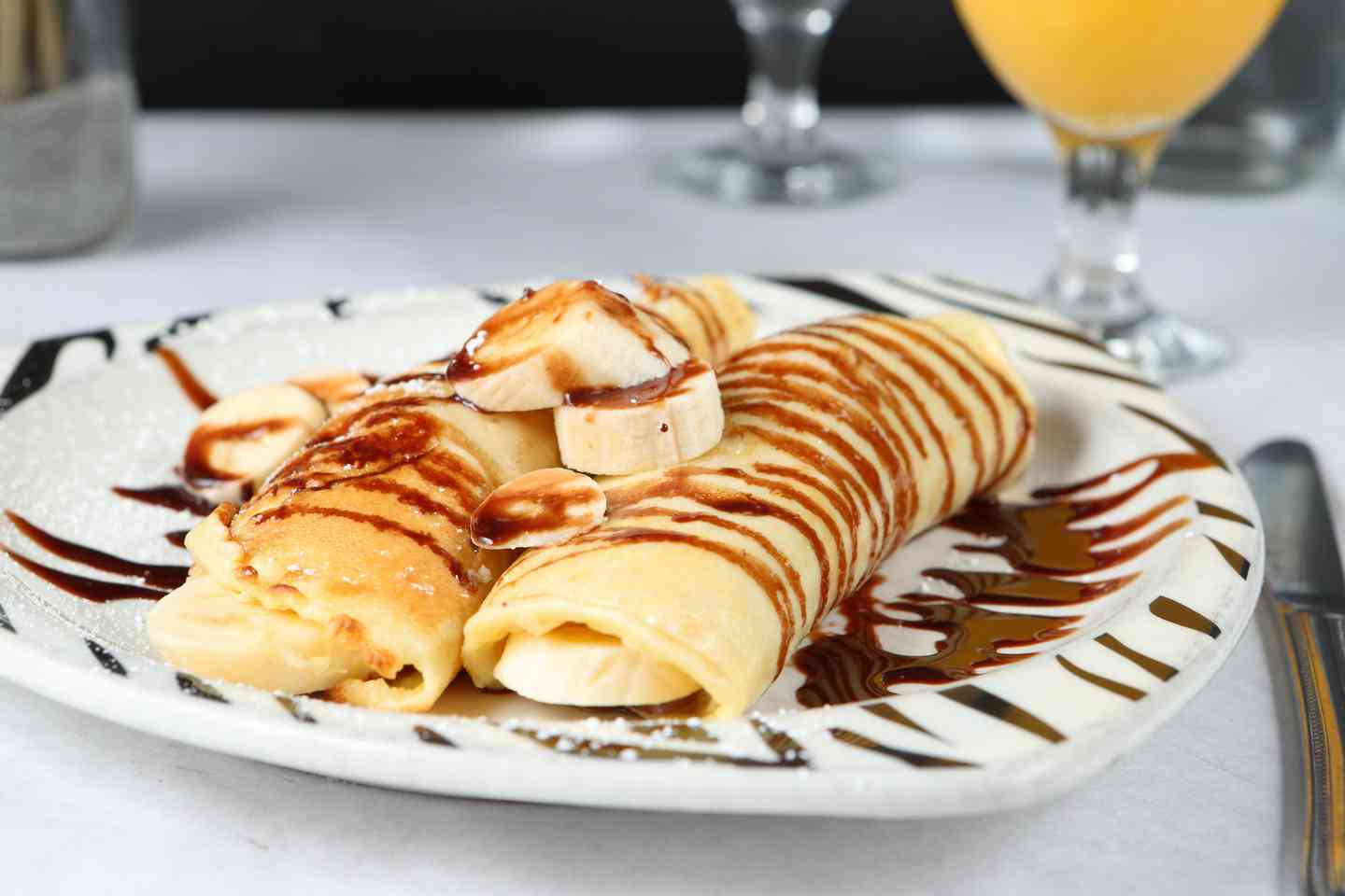Chocolate & Banana Crepes
