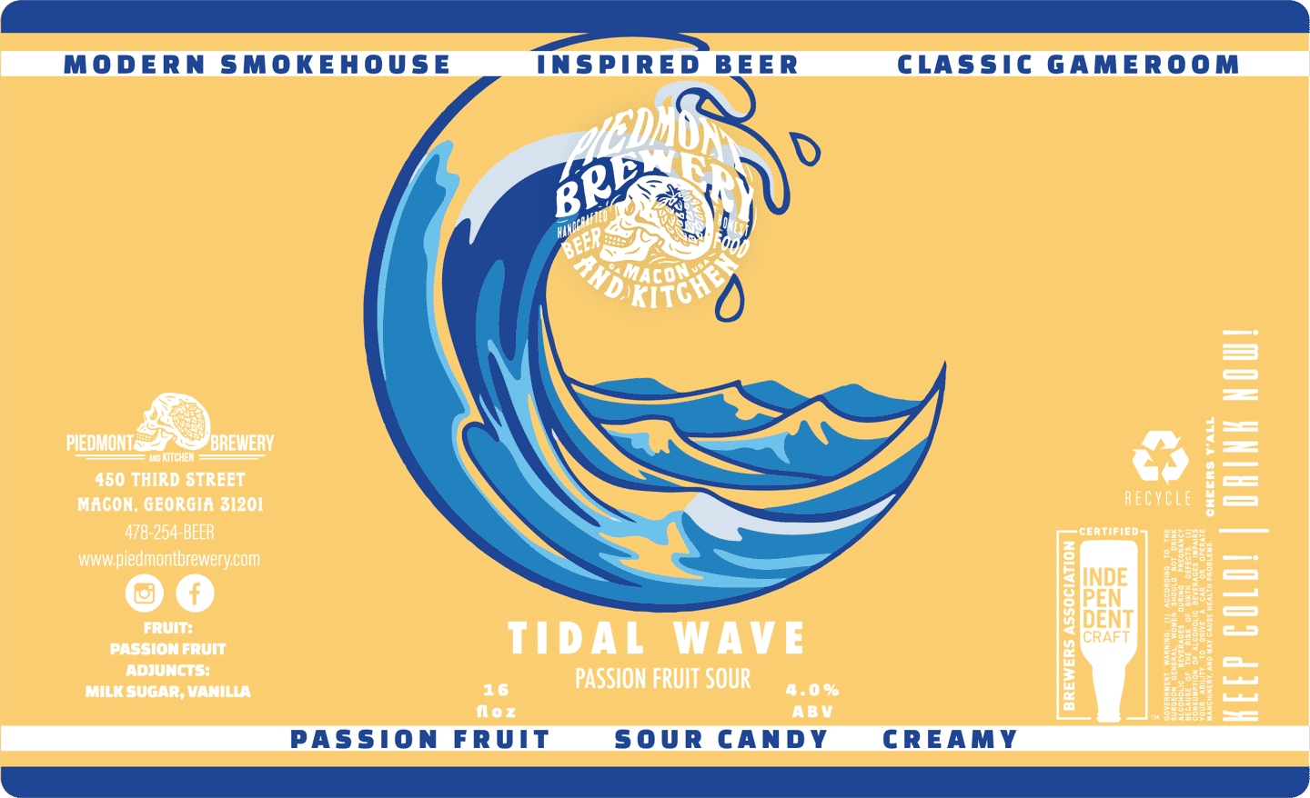 Tidal Wave Passionfruit Smoothie Sour