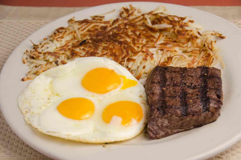 Flat Iron Steak & Eggs