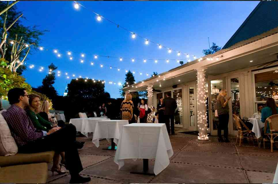 Outdoor evening private event