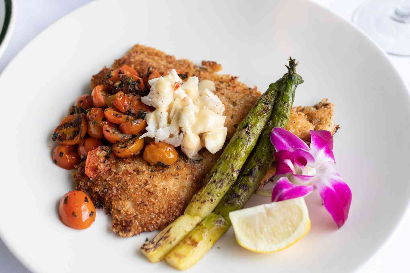 Parmesan Crusted Rainbow Trout With Jumbo Lump Crabmeat