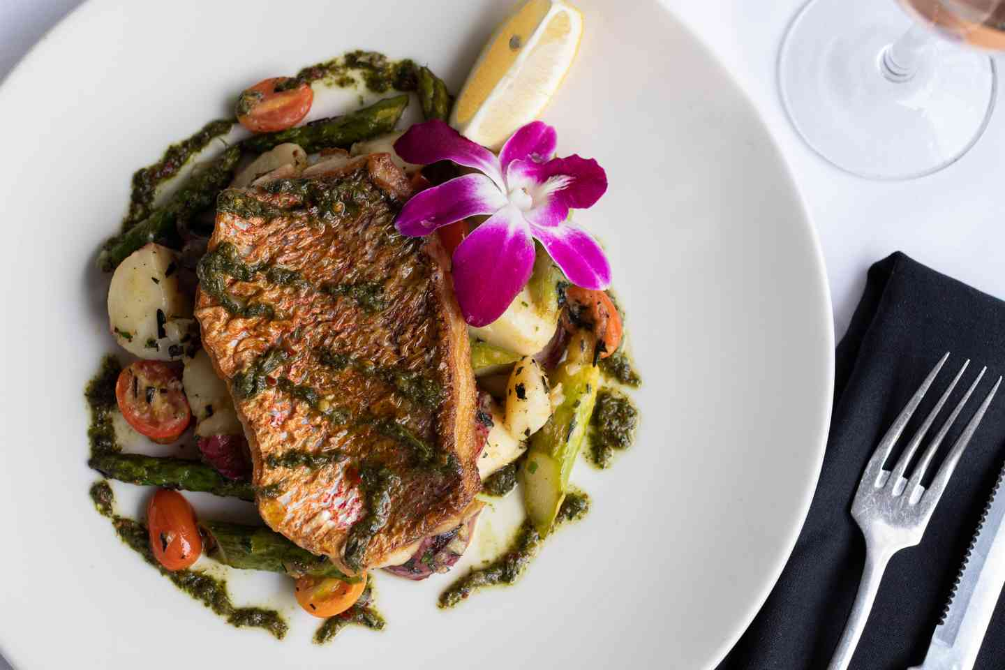Red Snapper with Sauce Verte