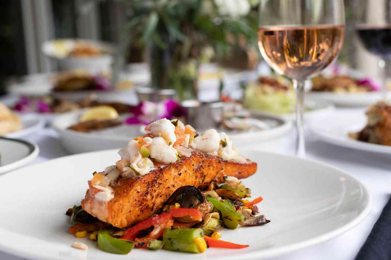 *Atlantic Blackened Salmon with Crabmeat Relish