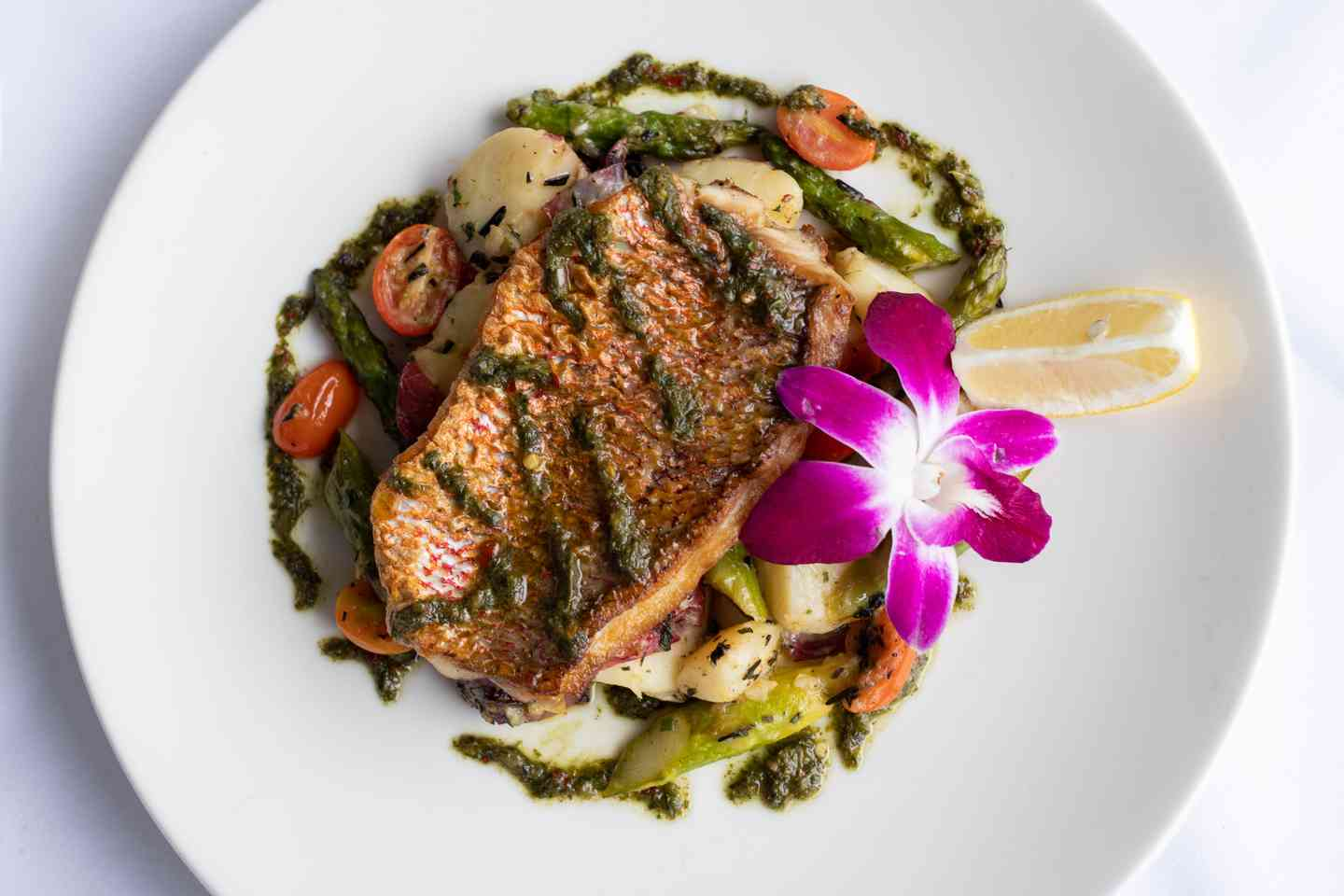 *Red Snapper with Sauce Verte