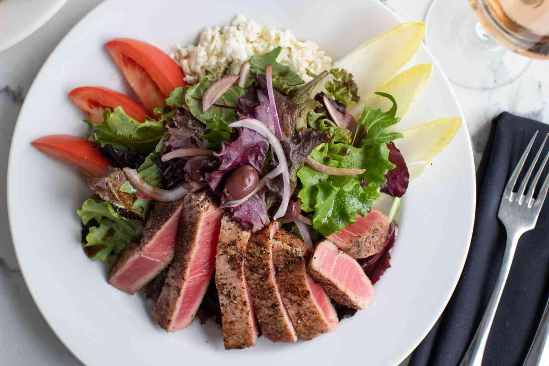 Seared Rare Ahi Tuna Salad