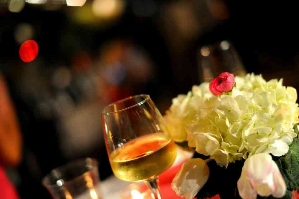 wine and flowers