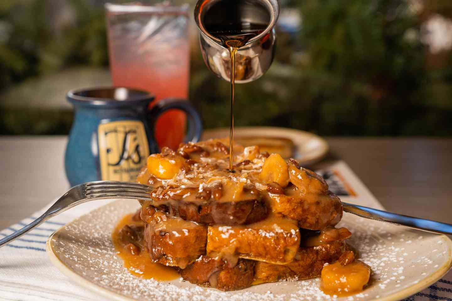 BANANA BOURBON BRIOCHE FRENCH TOAST