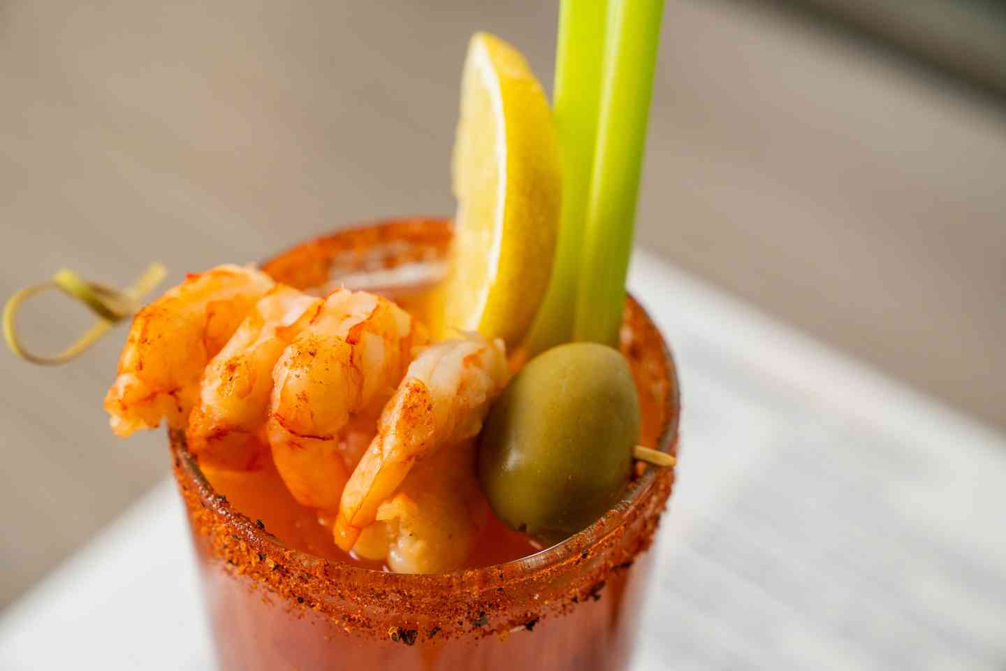 CAJUN SHRIMP BLOODY MARY*