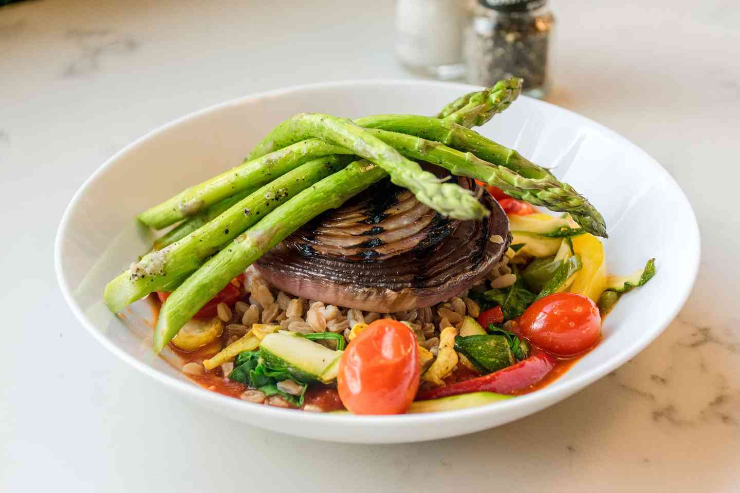 Grilled Vegetable Farro or Quinoa Bowl