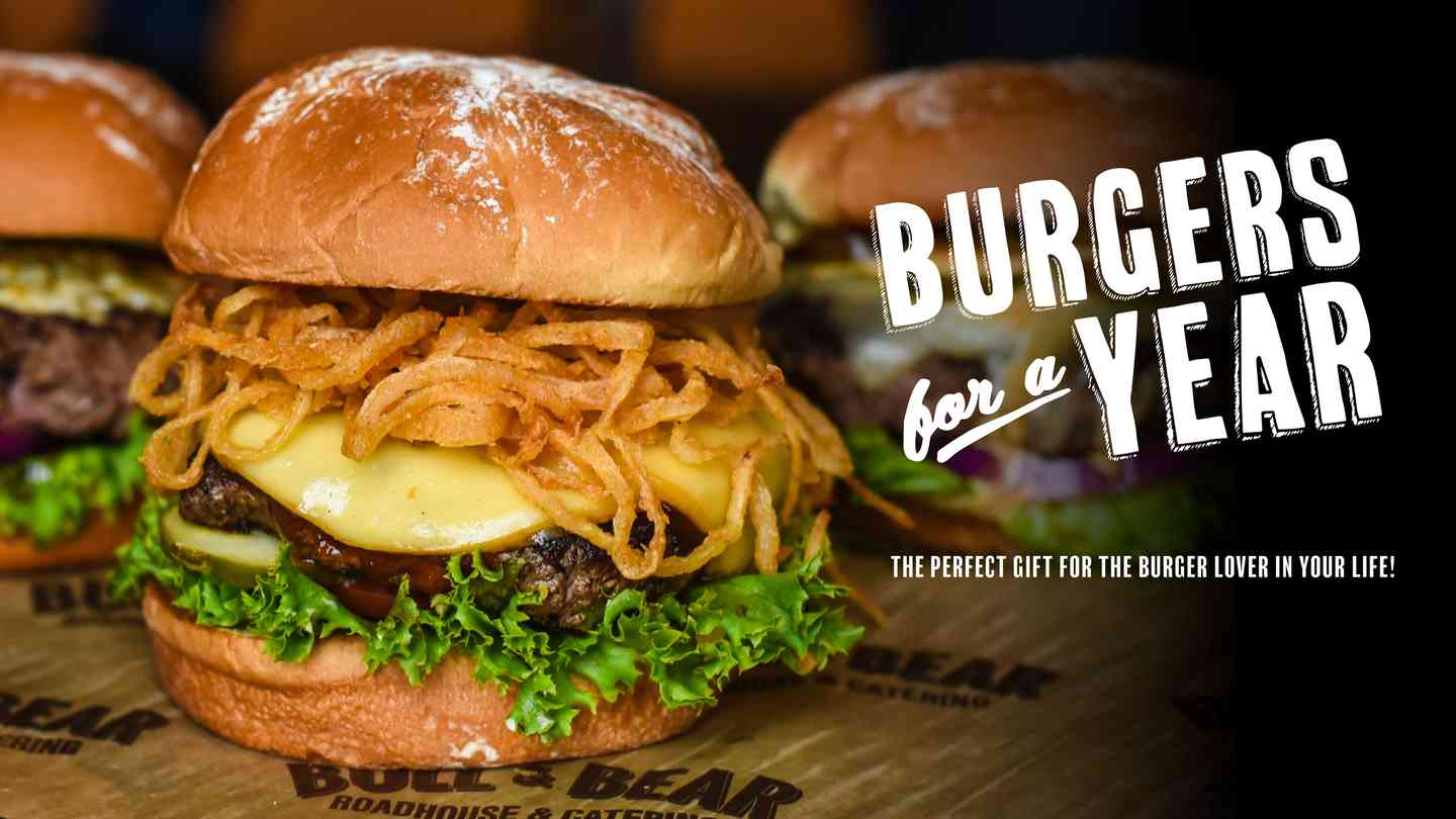 Burgers for a Year Banner