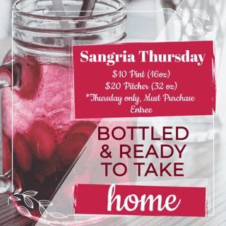 Sangria Thursday Special