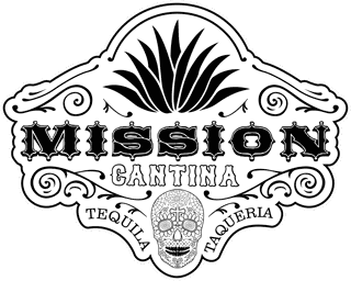 mission cantina full detail skull logo in black and white