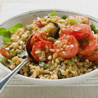 Mediterranean Faro Salad Dinner