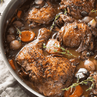 Coq au Vin with mashed potato