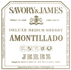 Savory & James, Amontillado Deluxe Medium Sherry Jerez-Xérès-Sherry