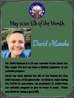 David Manske Elk of the Month