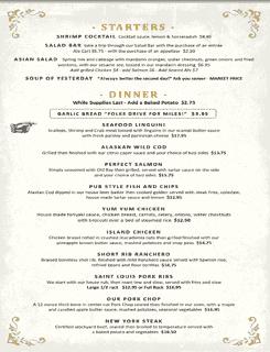 Starter - Dinner Menu 06-22-2020