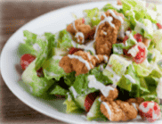 Popcorn Fired Chicken Salad