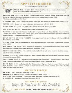 Appetizers Menu 06-22-2020