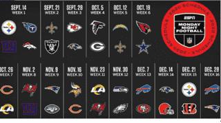 Monday football schedule 2020