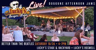 Better Than The Beatles IS BACK this Saturday at Lucky's LIVE!